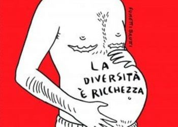 copertina del settimanale Espresso con un uomo incinta