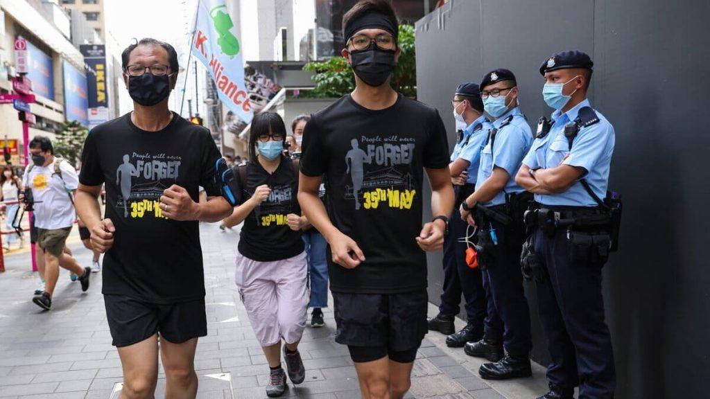 Membri dell'Alleanza organizzano una maratona a Hong Kong per ricordare la strage di Piazza Tienanmen