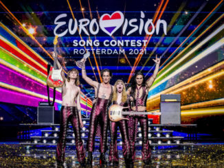 I Maneskin sul palco dell'Eurovision Song Contest 2021