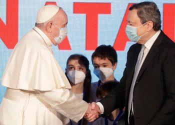 Papa Francesco e Mario Draghi