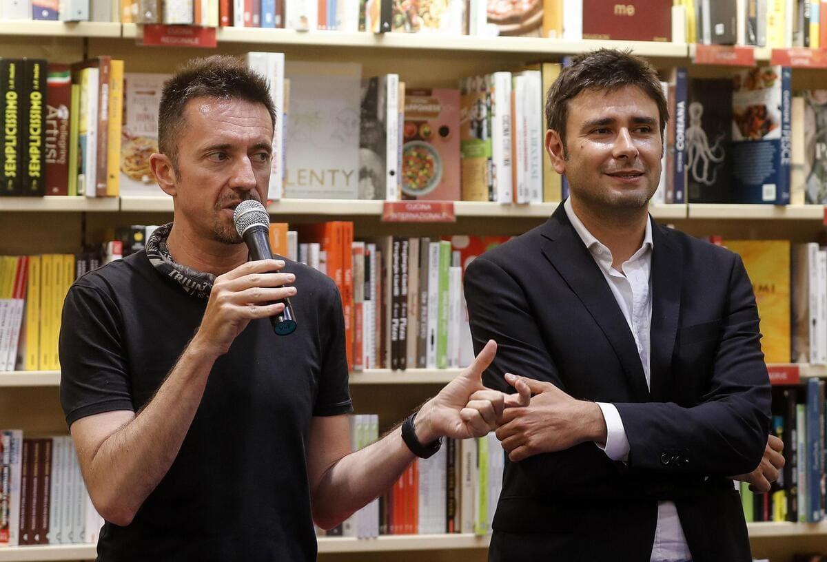 Andrea Scanzi con Alessandro Di Battista