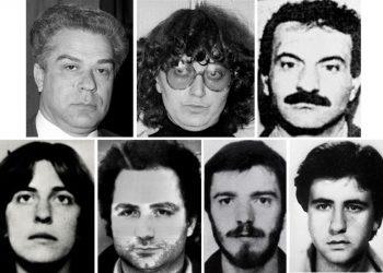Le foto dei sette terroristi rossi italiani arrestati in Francia