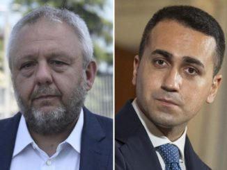 Simone Uggetti, ex sindaco di Lodi, e Luigi Di Maio, M5s