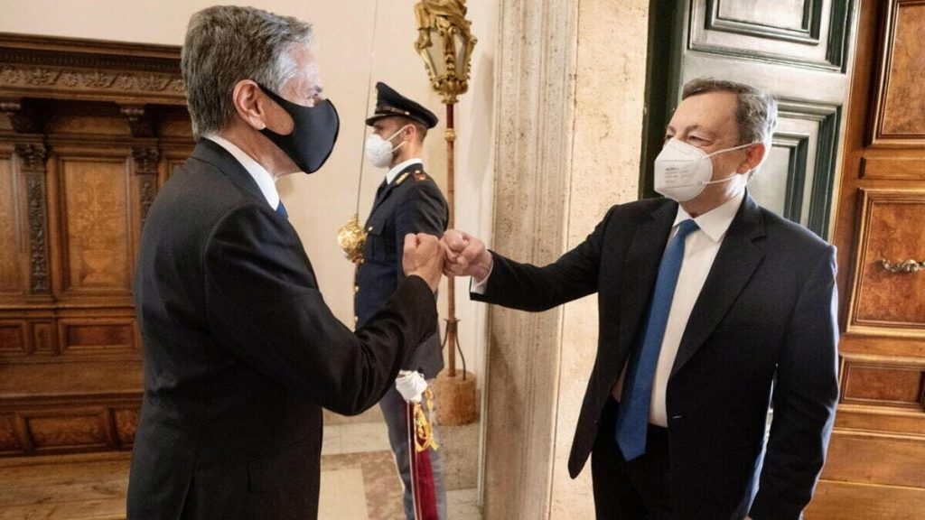 L'incontro a Roma tra il segretario di Stato americano Blinken e il premier Draghi