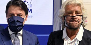 Giuseppe Conte con Beppe Grillo