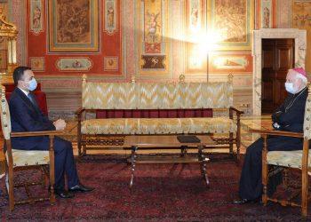 Incontro diplomatico tra il ministro degli Esteri italiano, Di Maio, e quello vaticano, monsignor Gallagher