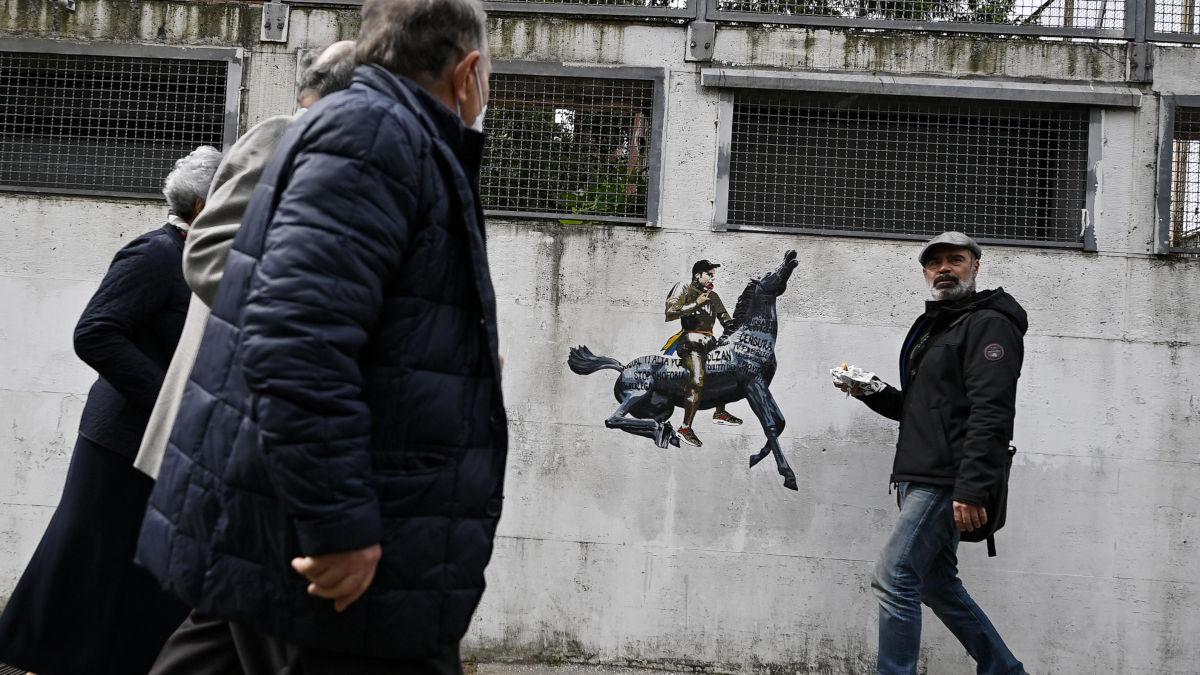 Murale per Fedez a Roma