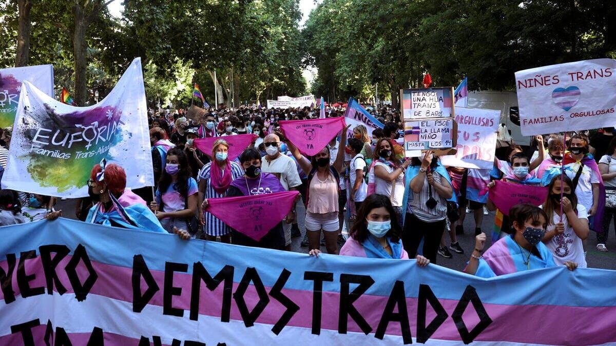 Il governo spagnolo ha detto sì alla Ley Trans durante la settimana del Pride (foto Ansa)