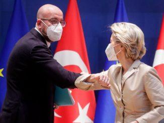 """I due """"presidenti"""" dell'Unione Europea Charles Michel e Ursula von der Leyen"""