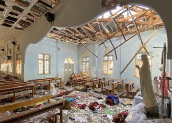 Chiesa bombardata dal regime militare in Myanmar