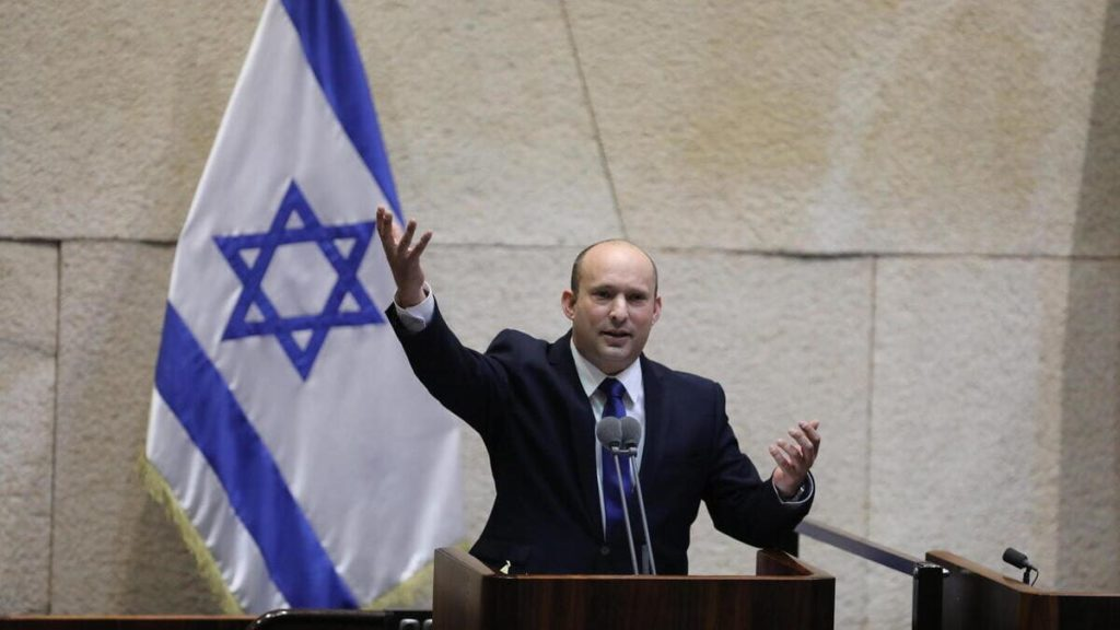 Naftali Bennett, nuovo premier in Israele, parla alla Knessett