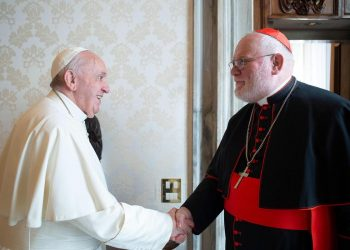 Papa Francesco con il cardinale Reinhard Marx