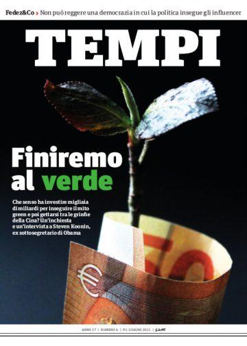 La copertina del numero di giugno 2021 di Tempi