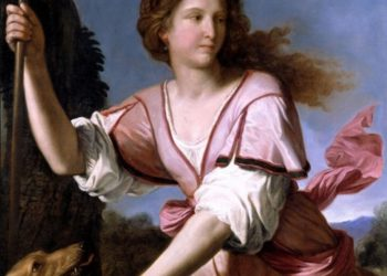 Guercino, Diana Cacciatrice, 1658. Olio su tela, 96,8 x 121,3 cm, Fondazione Sorgente Group, Roma
