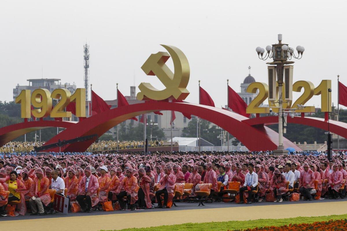 Celebrazioni per il centesimo anniversario della Repubblica popolare cinese, Pechino, 1 luglio 2021