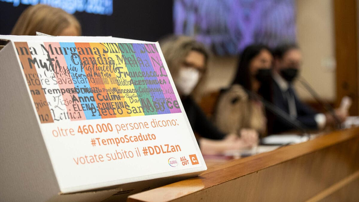 Ddl Zan, il 6 luglio il Senato vota per la calendarizzazione della discussione (foto Ansa)