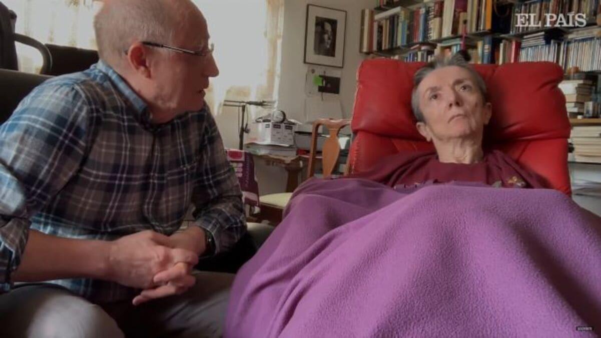 Un frame del video e girato da Ángel Hernández il 2 aprile 2019 prima di uccidere la moglie María José Carrasco. Il caso ha sdoganato la legge sull'eutanasia in Spagna