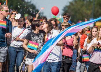 Il Pride di Budapest (foto Ansa)