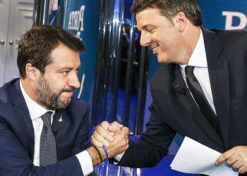 Matteo Salvini e Matteo Renzi, prove di alleanza in vista della corsa al Quirinale
