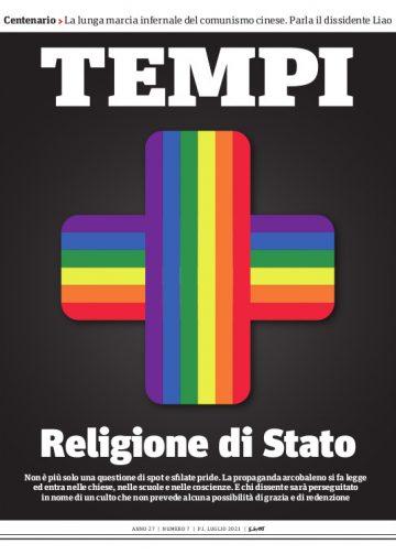 La copertina del numero di luglio 2021 di Tempi