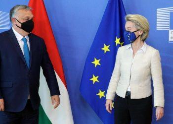 Incontro tra Ursula von der Leyen e Viktor Orban, premier dell'Ungheria