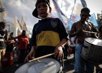 Manifestazione a Buenos Aires, capitale dell'Argentina, a favore della patrimoniale