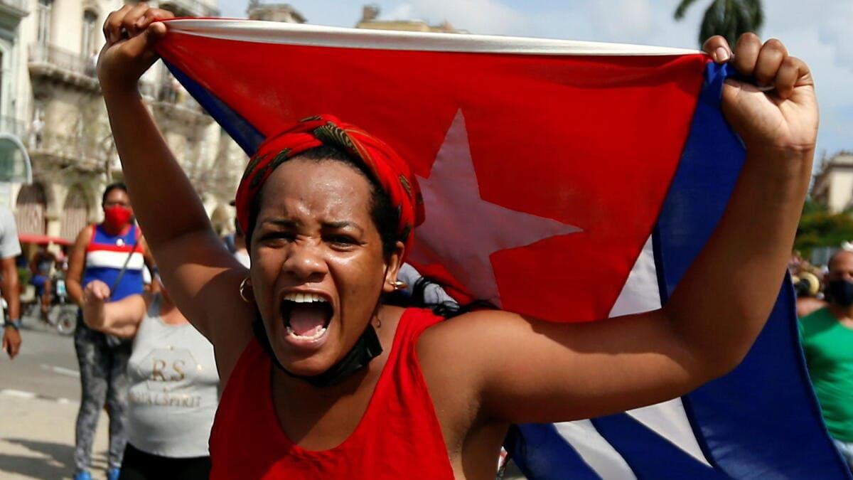 Cuba, le proteste dell'11 luglio 2021 a L'Avana contro la dittatura