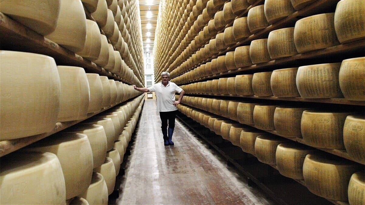 La Latteria Centro Ghiardo, che produce Parmigiano Reggiano