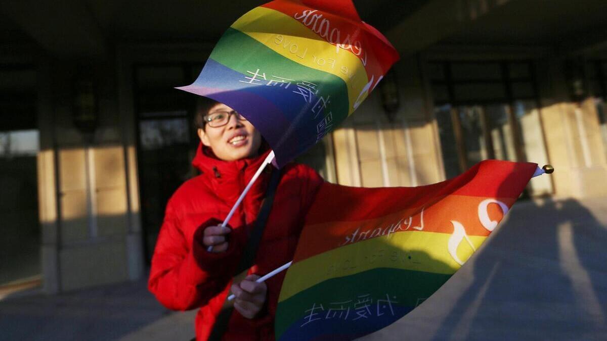 Sostenitori del movimento Lgbt in Cina