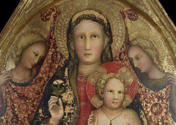 Madonna in trono con il Bambino e gli angeli esposta a Spoleto
