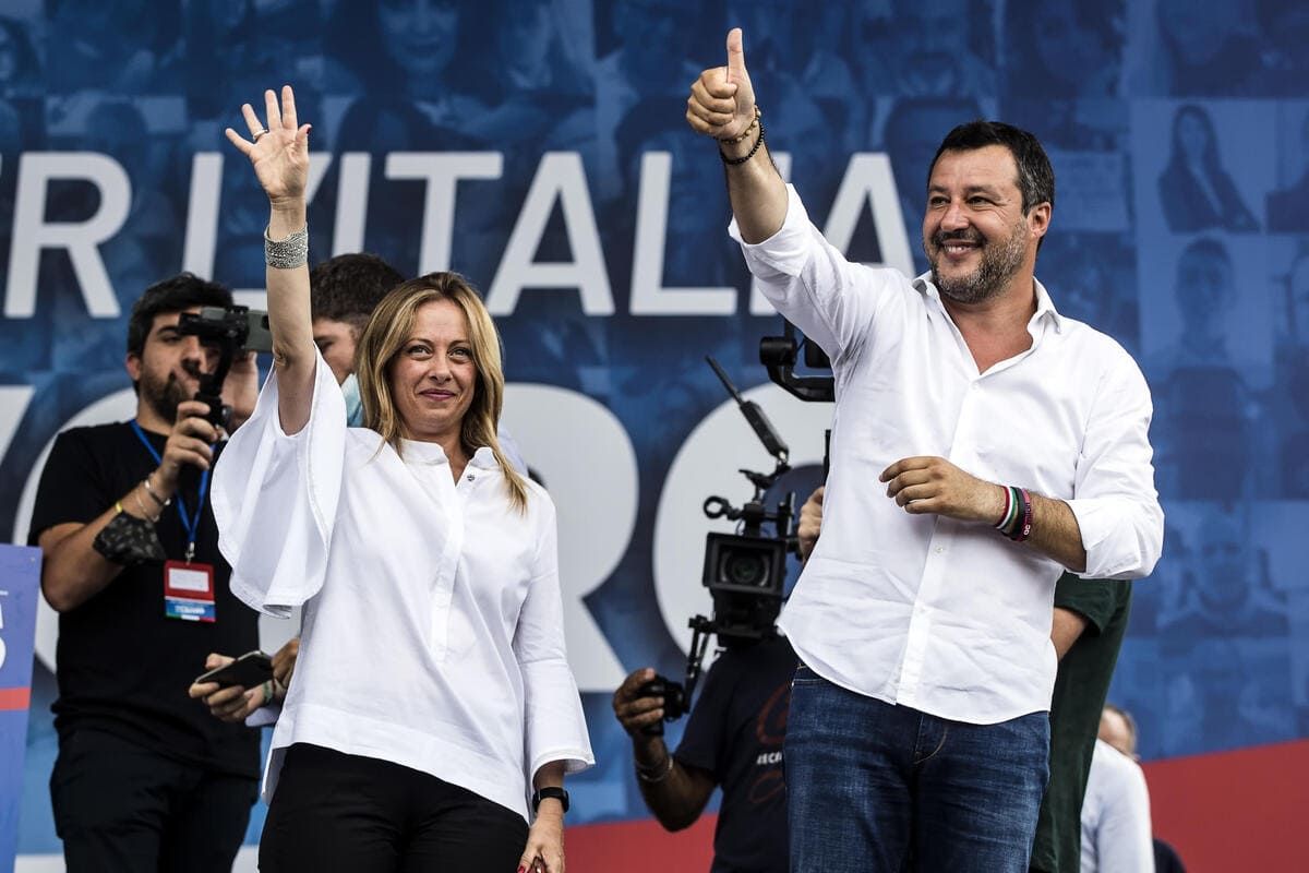 Giorgia Meloni (Fdi) e Matteo Salvini (Lega)