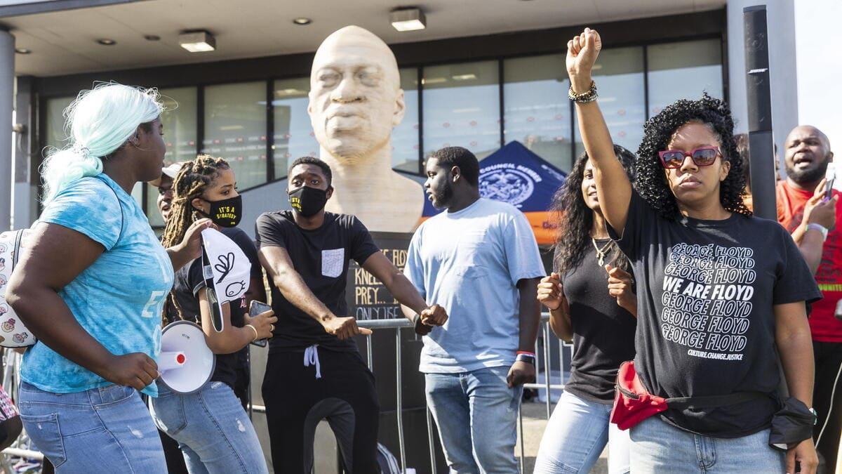 Protesta contro il razzismo di Blm negli Stati Uniti