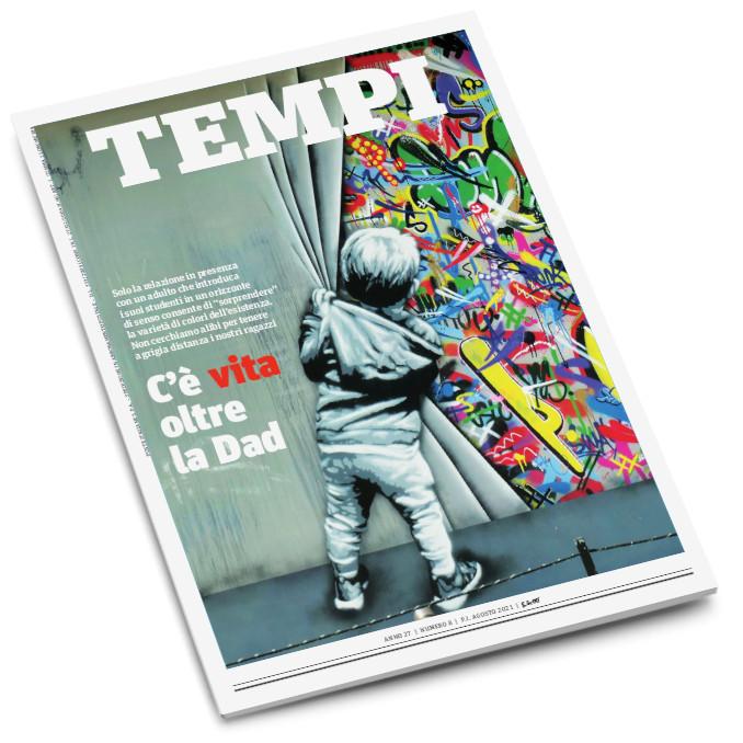 La copertina del numero di agosto 2021 di Tempi