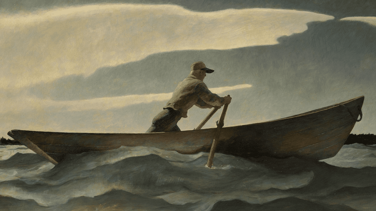 "Il quadro di Wyeth, ""The Lobsterman"""