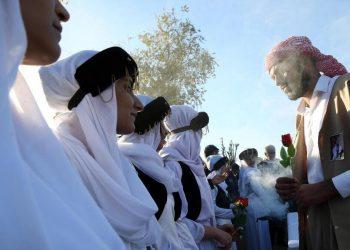 Funerale di un capo dei yazidi nel nord dell'Iraq