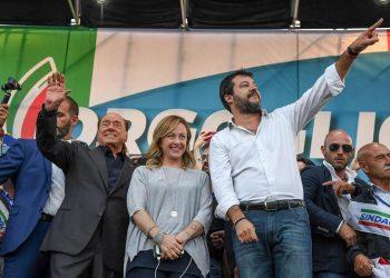 Silvio Berlusconi, Matteo Salvini, Giorgia Meloni