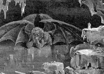 Dante all'inferno in un'incisione di Gustave Doré