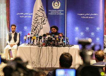 Conferenza stampa del ministri degli Esteri del governo dei talebani