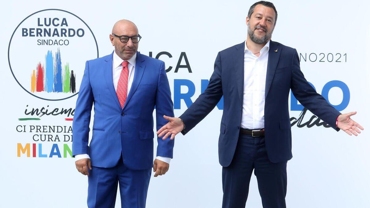 Milano. Luca Bernardo con Matteo Salvini