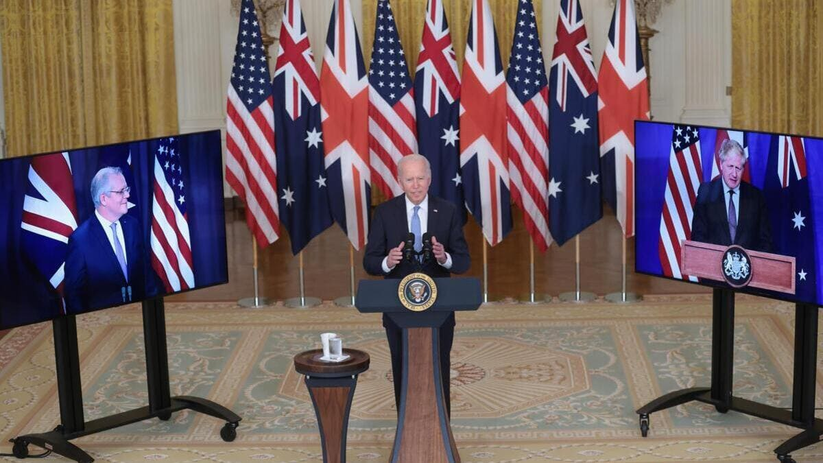 Joe Biden annuncia l'accordo Aukus con Regno Unito e Australia