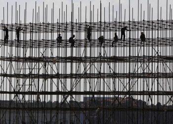 Progetto immobiliare di Evergrande in costruzione in Cina