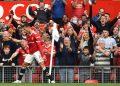Cristiano Ronaldo esulta dopo il primo gol al Newcastle (foto Ansa)