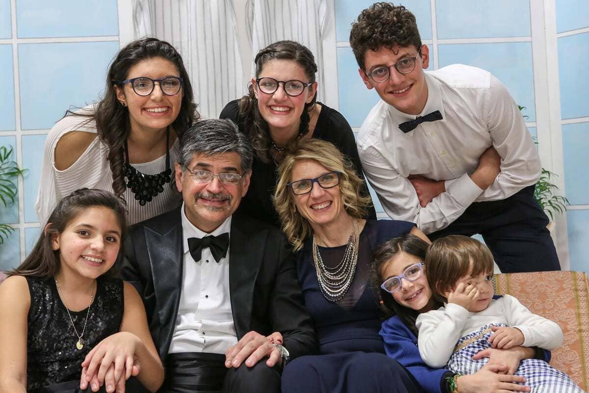 Federica Graci Piermarini con la sua famiglia