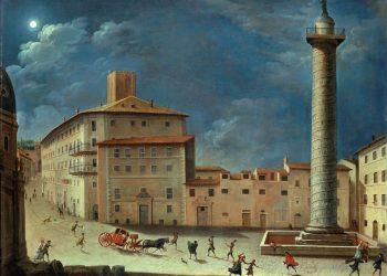 Giacomo Van Lint, Scena di genere presso la Colonna Traiana