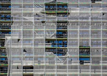 Impalcatura di cantiere edile