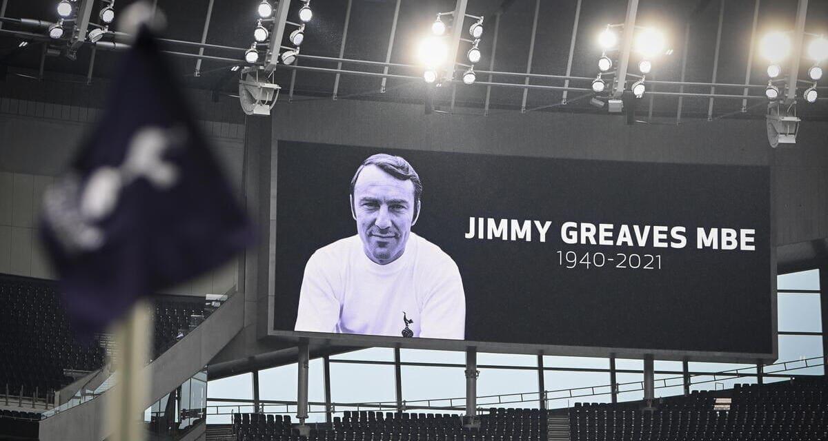 Il ricordo di Jimmy Greaves allo stadio del Tottenham prima della sfida contro il Chelsea di domenica 19 settembre