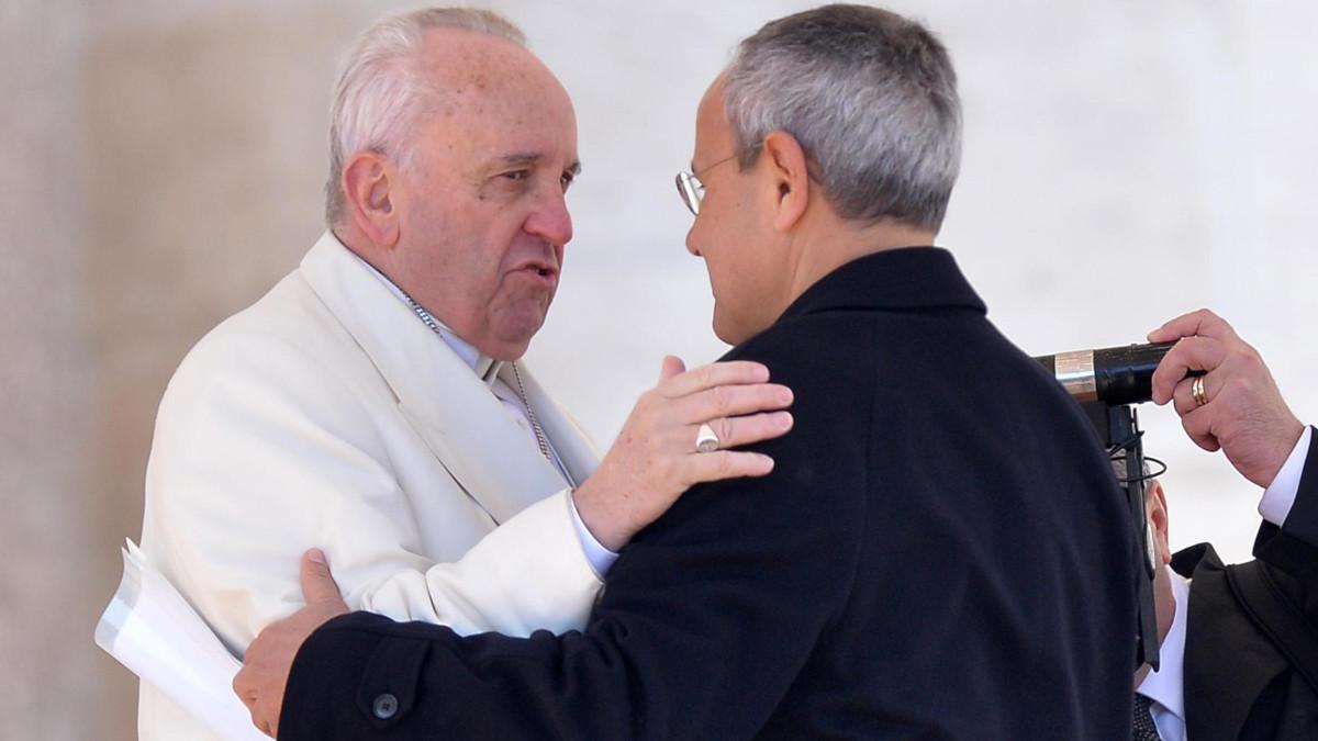 Papa Francesco con don Julian Carron