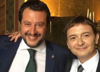 Matteo Salvini con Luca Morisi