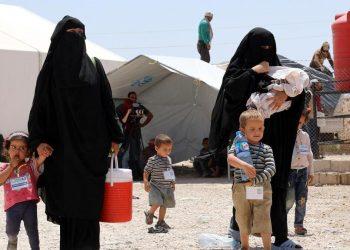Donne legate all'Isis in Siria nel campo di Al-Hol