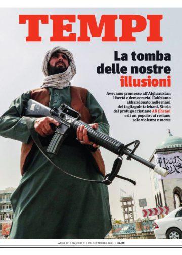 La copertina del numero di settembre 2021 di Tempi